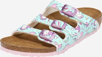 BIRKENSTOCK Sandále 'Florida' - svetlomodrá / žltá / fialová / ružová / biela, Produkt