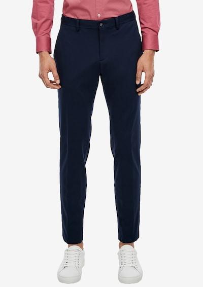 Pantaloni eleganți s.Oliver BLACK LABEL pe albastru noapte, Vizualizare model