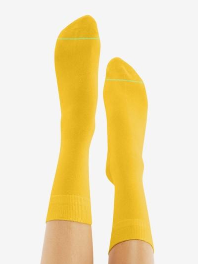 CHEERIO* Socken 'BEST FRIEND' in gelb: Rückansicht