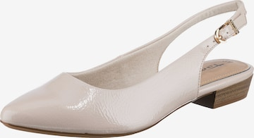 TAMARIS Ballet Flats with Strap in White