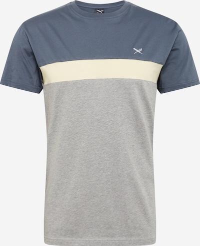 Iriedaily Koszulka 'Court' w kolorze gołąbkowo niebieski / nakrapiany szary / białym, Podgląd produktu