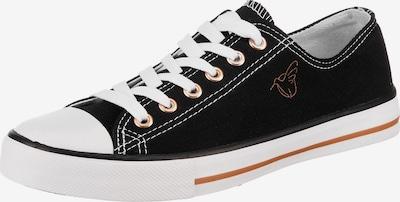 Lynfield Sneaker in dunkelorange / schwarz / weiß, Produktansicht