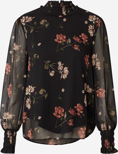 VERO MODA Blouse 'Smilla' in de kleur Olijfgroen / Rosa / Roestrood / Zwart, Productweergave