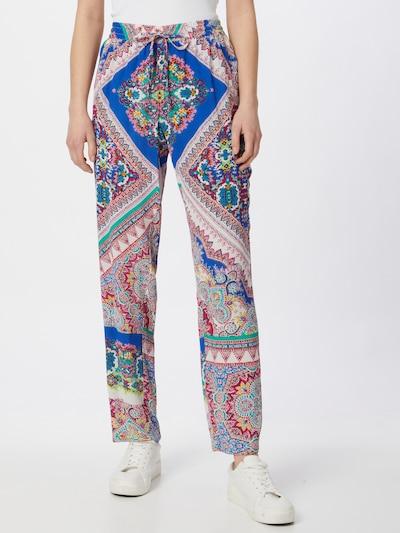Pantaloni Derhy di colore blu / giallo / giada / rosa / bianco, Visualizzazione modelli
