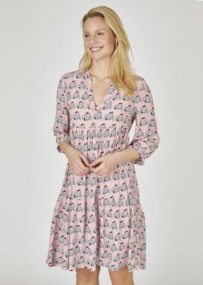 eve in paradise Kleid 'Nina' in hellpink / schwarz / weiß, Modelansicht