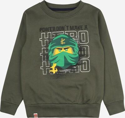 LEGO WEAR Sweatshirt in de kleur Geel / Groen / Kaki / Zwart / Wit, Productweergave