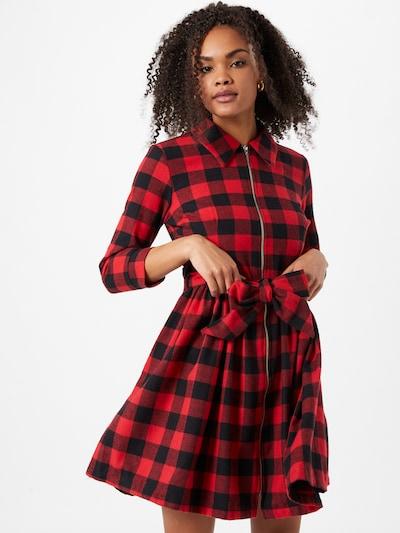 Trendyol Košeľové šaty - červená / čierna, Model/-ka