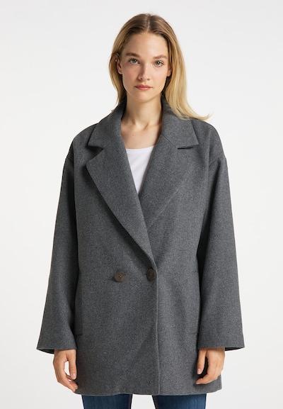 DreiMaster Vintage Between-Seasons Coat in mottled grey, View model