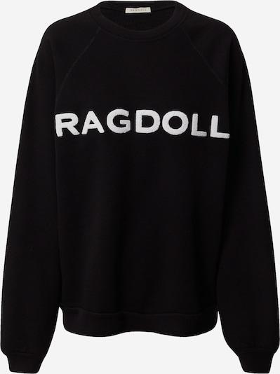 Ragdoll LA Sweater majica 'Vintage' u crna / bijela, Pregled proizvoda