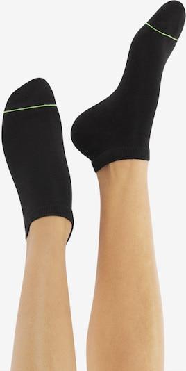 CHEERIO* Socken 'SNEAKER PAL' in grün / schwarz: Frontalansicht