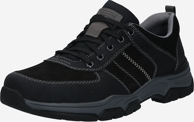 RIEKER Buty sportowe sznurowane w kolorze szarobeżowy / ciemnoszary / czarnym, Podgląd produktu