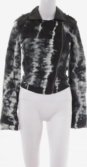 Sparkle & Fade Kunstlederjacke in XS in dunkelblau / schwarz / weiß, Produktansicht