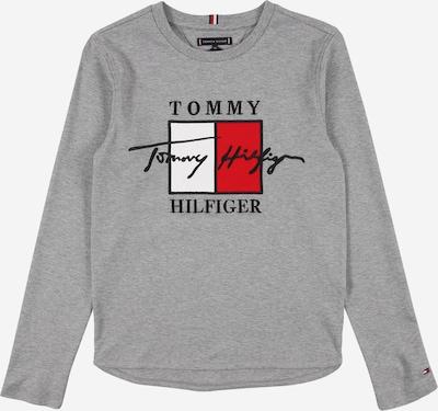 TOMMY HILFIGER Shirt 'Signature' in grau / feuerrot / schwarz / weiß, Produktansicht