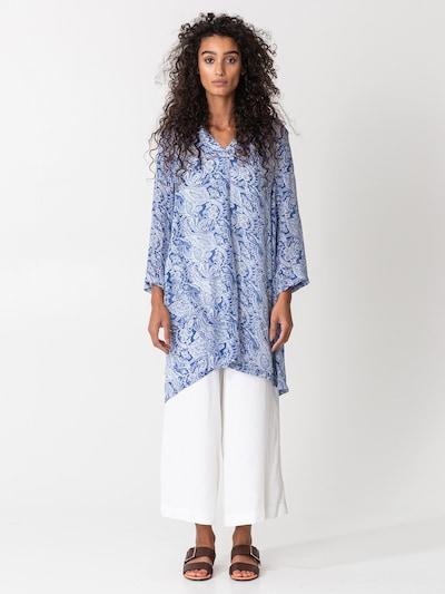Indiska Tunique 'GRISHMA' en bleu marine / blanc, Vue avec modèle