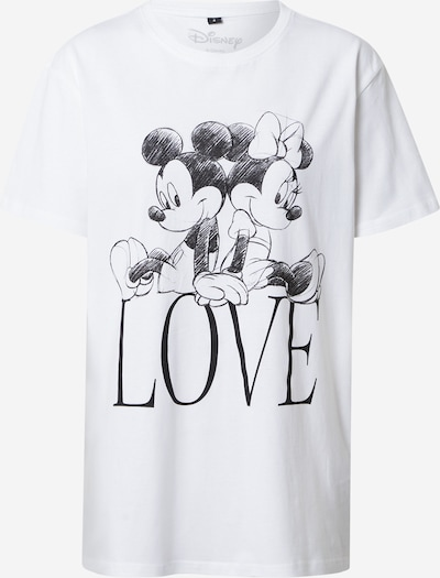 Merchcode T-Shirt 'Minnie Loves Mickey' in schwarz / weiß, Produktansicht