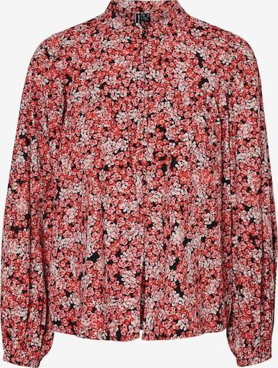 VERO MODA Bluse 'Patricia' in cranberry / melone / schwarz / weiß, Produktansicht