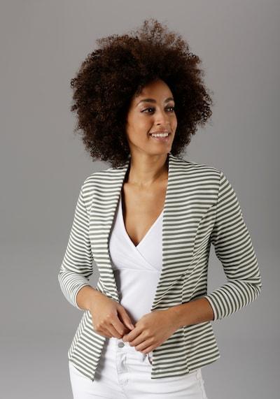 Aniston SELECTED Blazer in grün / weiß, Modelansicht