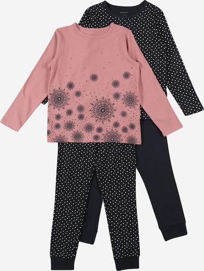 NAME IT Schlafanzug in dunkelblau / rosa / schwarz / weiß, Produktansicht