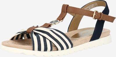 Sandalai iš TOM TAILOR , spalva - smėlio / tamsiai mėlyna / ruda, Prekių apžvalga