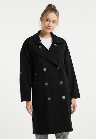DreiMaster Vintage Between-Seasons Coat in Black