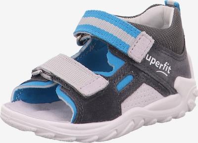 SUPERFIT Sandale 'FLOW' in blau / grau / dunkelgrau, Produktansicht