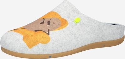 Papuci de casă 'GRAMAIS' Hot Potatoes pe maro / maro închis / gri amestecat / verde neon / portocaliu, Vizualizare produs