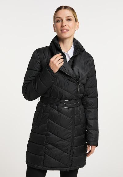 usha BLACK LABEL Winter Coat in Black, View model