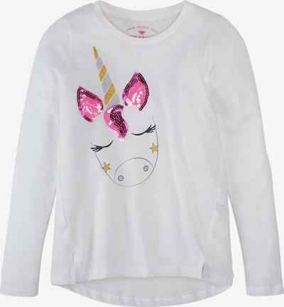 TOM TAILOR Shirt in hellblau / hellgelb / pink / schwarz / weiß, Produktansicht