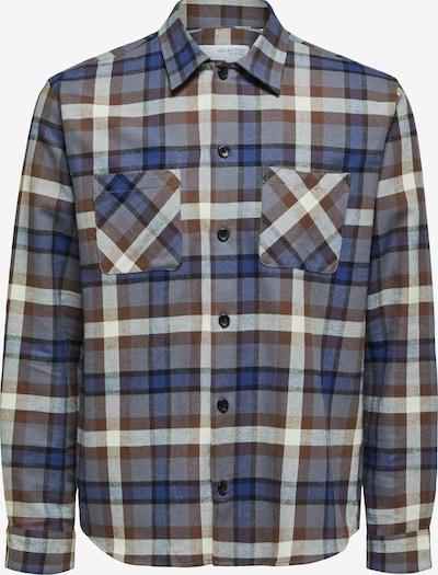 SELECTED HOMME Between-Season Jacket 'Danny' in Dark blue / Brown / Grey / White, Item view