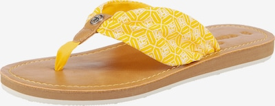 TOM TAILOR T-bar sandals in Yellow / White, Item view