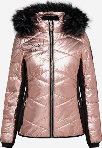 Soccx Between-Season Jacket in Pink