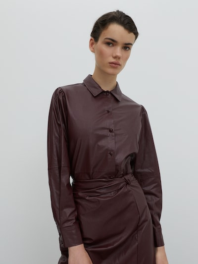 EDITED Bluse 'Leandra' in weinrot, Modelansicht