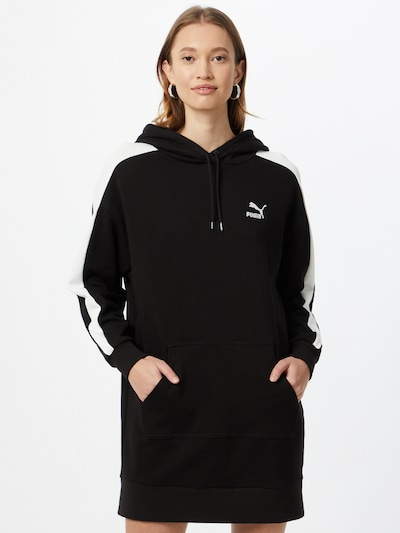 PUMA Šaty - černá / bílá, Model/ka