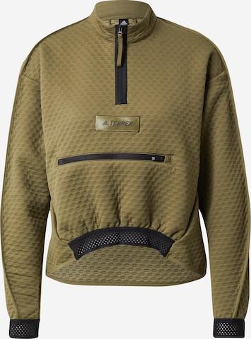 adidas Terrex Athletic Sweatshirt in Green
