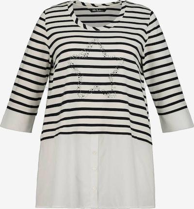 Ulla Popken Shirt in schwarz / weiß, Produktansicht