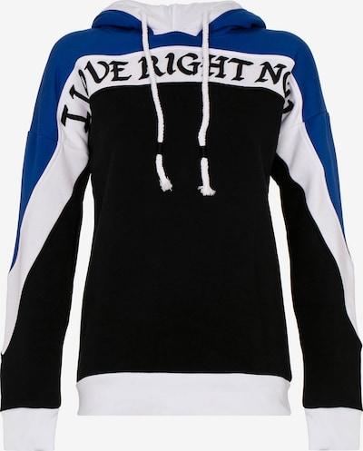 CIPO & BAXX Angesagtes Sweatshirt mit weicher Kapuze in blau / schwarz / weiß, Produktansicht