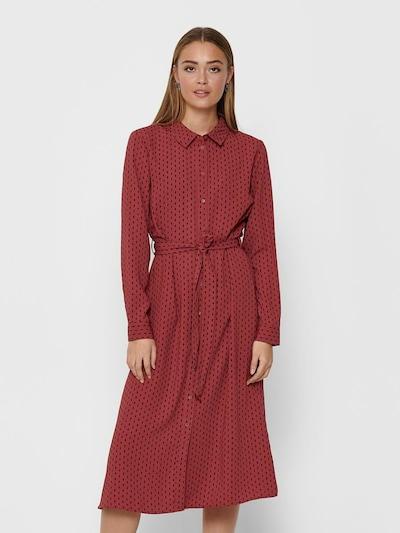JACQUELINE de YONG Košeľové šaty - hrdzavo červená / čierna, Model/-ka