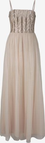 Rochie de la heine pe bej