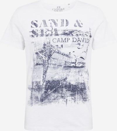CAMP DAVID T-Shirt en gris foncé / blanc cassé, Vue avec produit