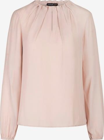 APART Bluse aus leicht körnigem Georgette in Pink