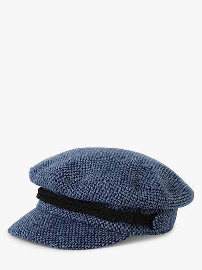 TOMMY HILFIGER Hut 'Baker Boy' in blau / nachtblau / schwarz: Frontalansicht