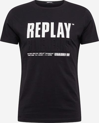 REPLAY Shirt in schwarz / weiß, Produktansicht