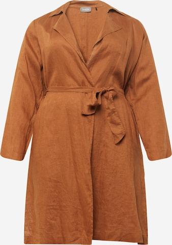 SAMOON Summer Coat in Brown