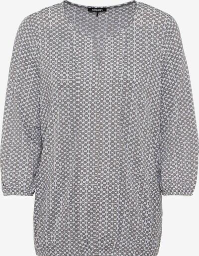 Olsen Shirt in hellgrau / weiß, Produktansicht