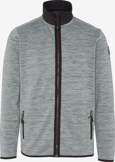 CHIEMSEE Sportsweatjacke 'SABALAN' in grau / graumeliert / schwarz, Produktansicht