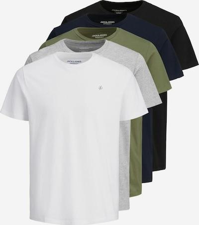 JACK & JONES Shirt in dunkelblau / hellgrau / oliv / schwarz / weiß, Produktansicht