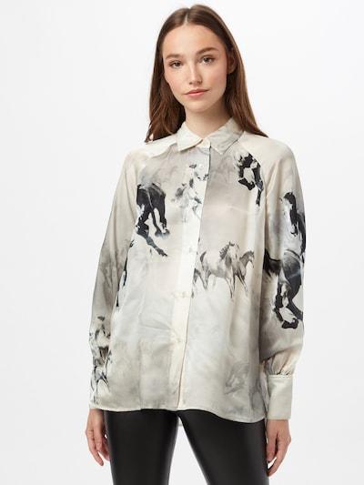 AllSaints Bluse in ecru / schwarz / weiß, Modelansicht