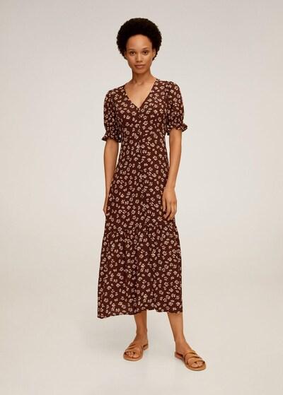 MANGO Sommerkleid in beige / schoko, Modelansicht