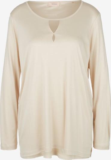 TRIANGLE T-shirt en beige, Vue avec produit