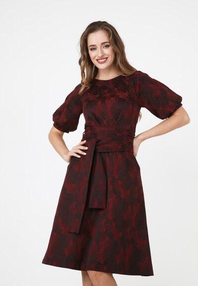 Madam-T Kleid in mischfarben / rubinrot / schwarz, Modelansicht